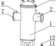 一种铜质螺旋气液过滤网及自动微泡排气除污装置的制作方法