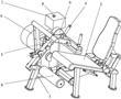 带磁流变可调阻尼的坐式屈腿训练器的制作方法