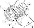 一种低噪声离心风轮的制作方法