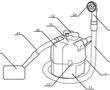 一种吸污分流结构及负压吸附装置及洗头机的制作方法