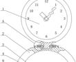 一种具有波浪指针结构的趣味性桌钟的制作方法