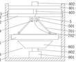 一种印花波浪纹加工用的铺网机的制作方法